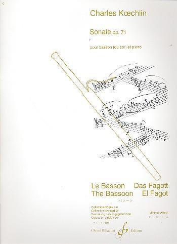Koechlin C Sonate Op 71