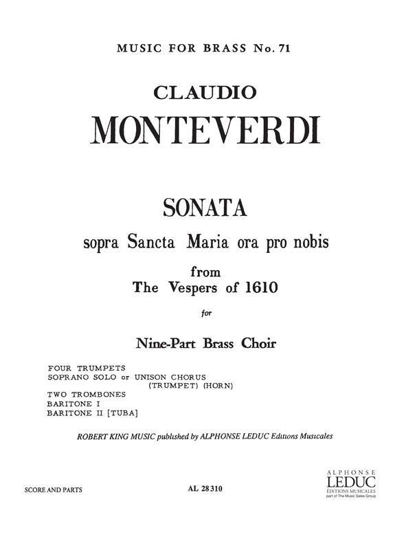 Monteverdi Sonata Soprano...