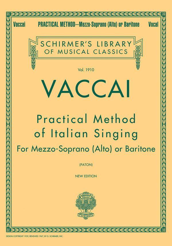 Vaccai for Mezzo Soprano...