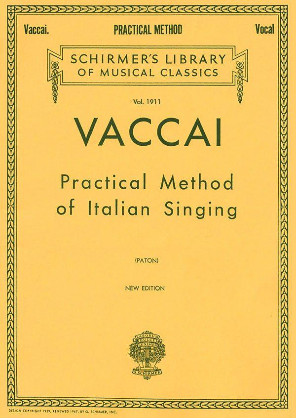 Vaccai for High Soprano